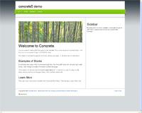 concrete5 themes: cordobo green park 2